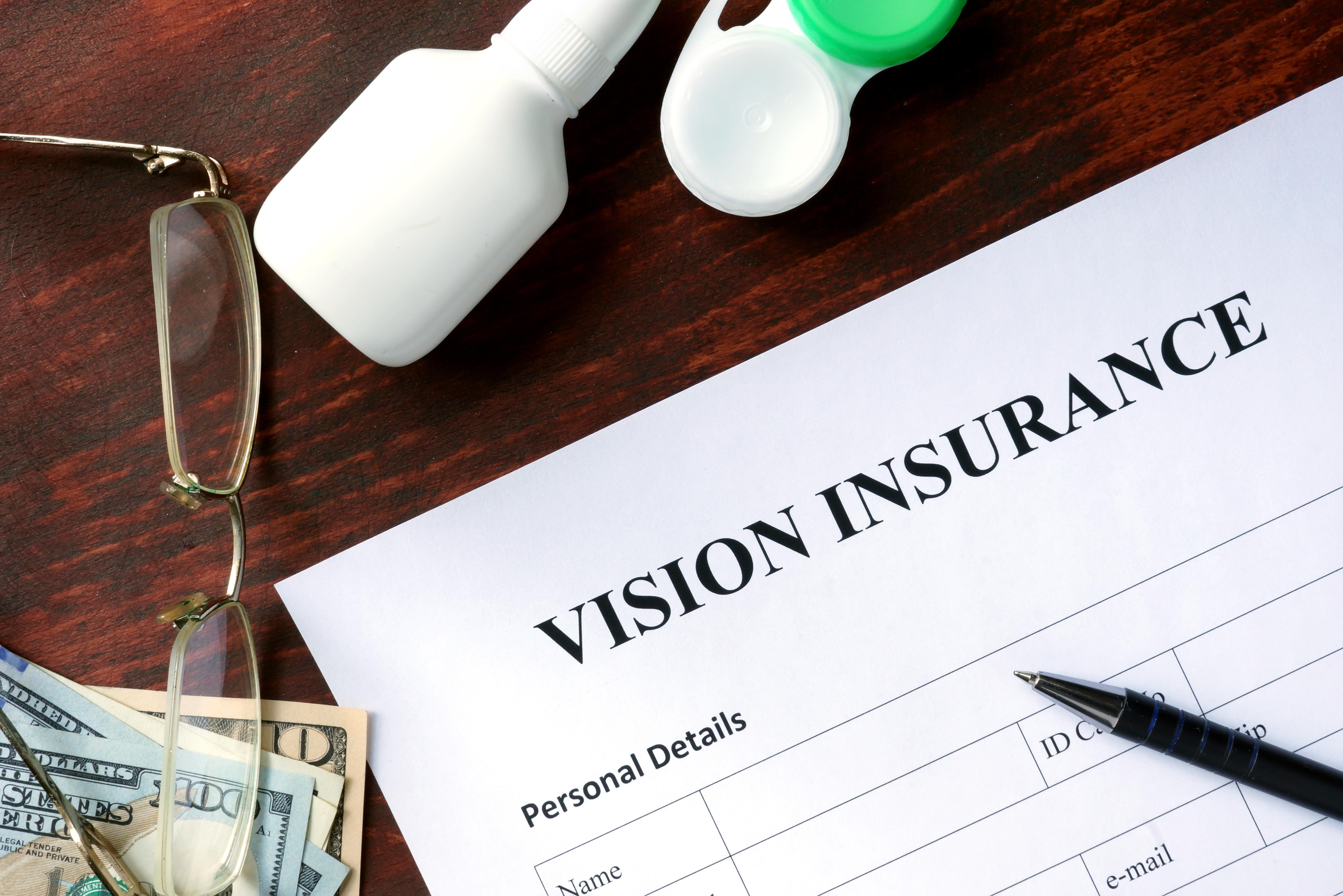 Vision insurance paperwork